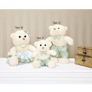 Urso Família Decorativo Amore Verde