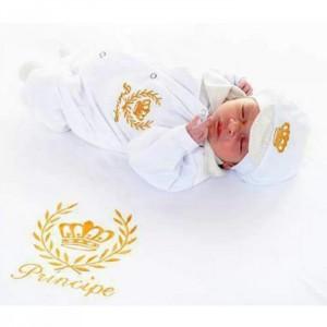 Saída de Maternidade Príncipe Luxo Branco