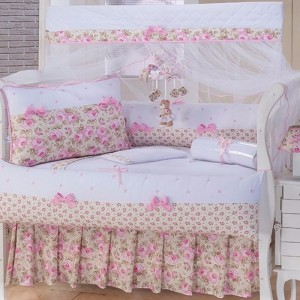 Kit Berço Laços Baby Rosa